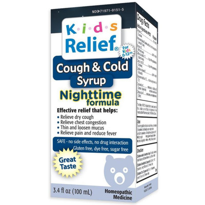 Homeolab USA Kids Relief Cough & Cold Syrup Nighttime