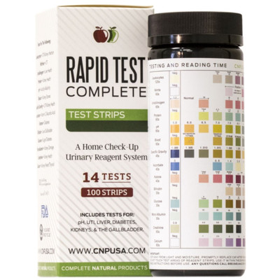 Complete Natural Products - Rapid Test Complete - Urinalysis Test Strips 100ct UTI and pH Strips