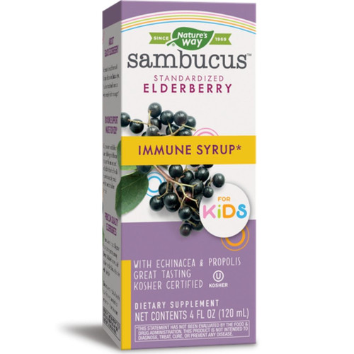 Nature's Way Sambucus Elderberry Syrup for Kids