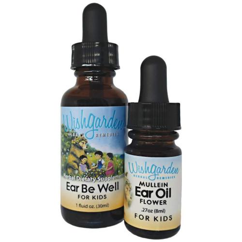 WishGarden Ear Be Well & Mullein Ear Oil Flower for Kids