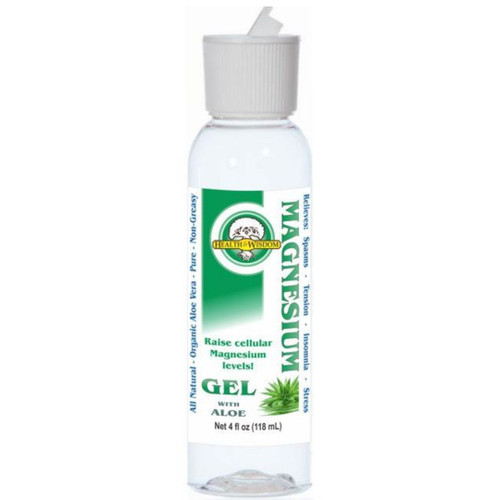 Health & Wisdom Magnesium Gel with Aloe Vera 4 fl oz