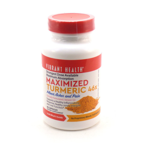 Vibrant Health Maximized Turmeric 46x Extra Strength 60 caps