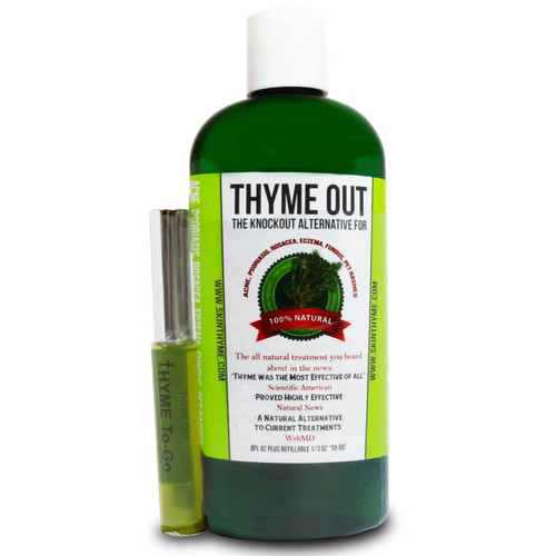 Thyme Out - The Knockout Alternative For Acne, Psoriasis, Rosacea, Eczema, Fungus, Pet Rashes 100% Natural