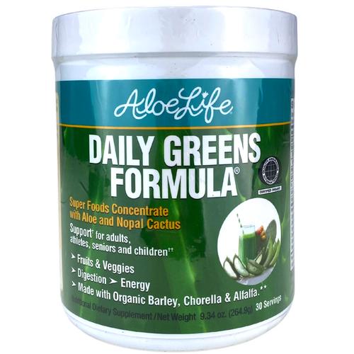 Aloe Life Daily Greens Formula Powder