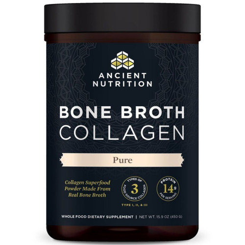 Ancient Nutrition Bone Broth Collagen- Pure - 15.9 oz