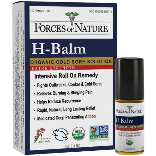 Forces of Nature H -Balm Topical Cold Sore Medicine - 4ml Rollerball