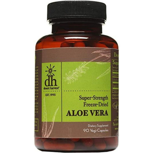 Desert Harvest Freeze-Dried Aloe Vera (Super-Strength) 90 Vegi-Caps