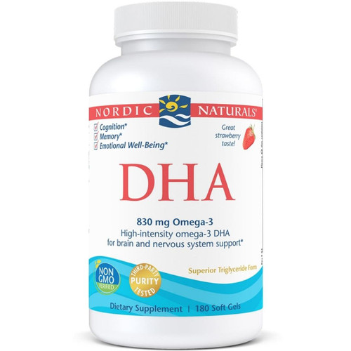 Nordic Naturals DHA (830mg Omega-3) Strawberry - 180 caps