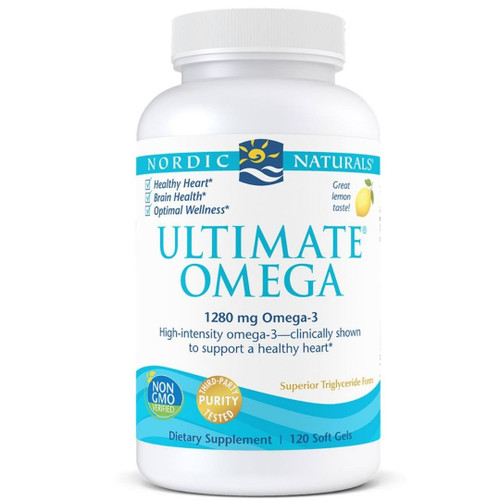 Nordic Naturals Ultimate Omega (1280mg Omega-3) Lemon - 120 softgels