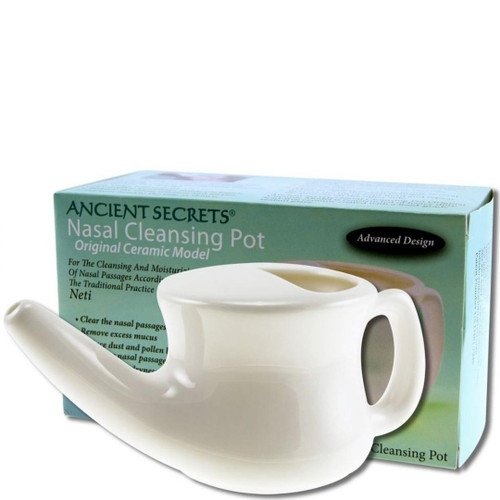 Ancient Secrets Nasal Cleansing Pot (Neti) Original Ceramic Model