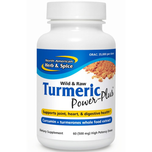 North American Herb & Spice Turmeric Power-Plus - 60 (500mg) caps