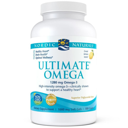 Nordic Naturals Ultimate Omega (1280 mg Omega-3) Lemon - 180 soft gels