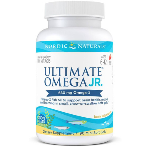 Nordic Naturals Ultimate Omega Junior (680 mg Omega-3) Strawberry - 90 Mini Soft Gels