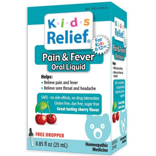 Homeolab USA Kids Relief Pain & Fever Oral Liquid