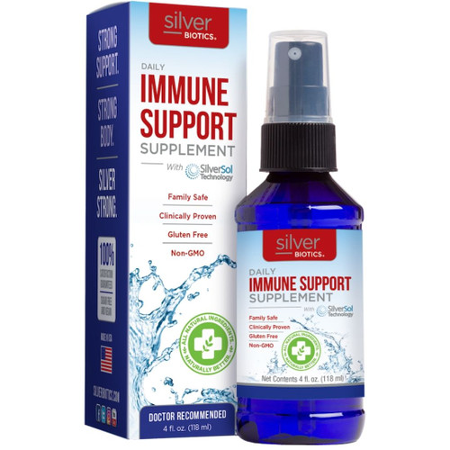 Silver Biotics Daily Immune Support Supplement - 10 ppm - 4 fl oz