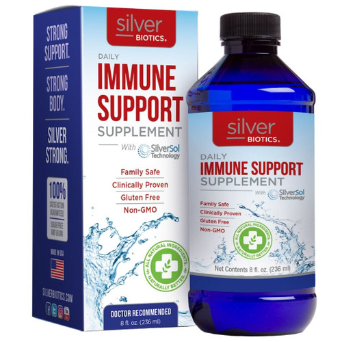 Silver Biotics  Daily Immune Support Supplement - 10 ppm -  8 fl oz