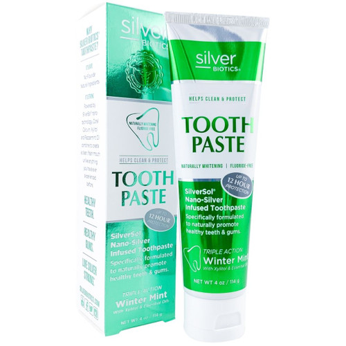 Silver Biotics Tooth Paste Nano-Silver Toothpaste -20 ppm - Winter Mint - 4 oz