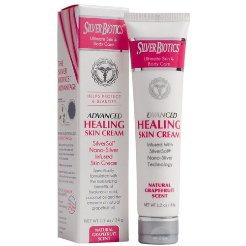 Silver Biotics Advanced Healing Skin Cream - 20 ppm - Grapefruit  - 1.2 oz