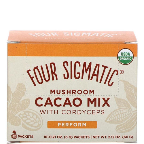 Four Sigmatic - Cordyceps Mushroom Cacao - 10 Packets, 0.2 oz Each