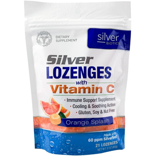 Silver Biotics Silver Lozenges with Vitamin C - Orange Splash - 21 Lozenges