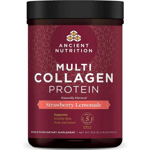 Ancient Nutrition Multi Collagen Protein - Strawberry Lemonade - 18.9 oz