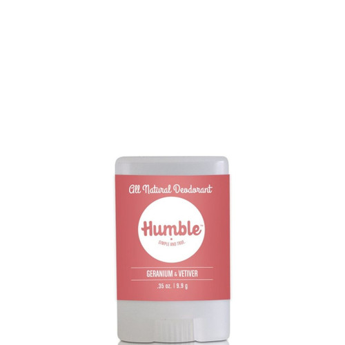 Humble - Deodorant - Geranium and Vetiver Travel Size - .35 oz