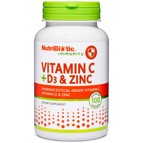 NutriBiotic Vitamin C + D3 & Zinc