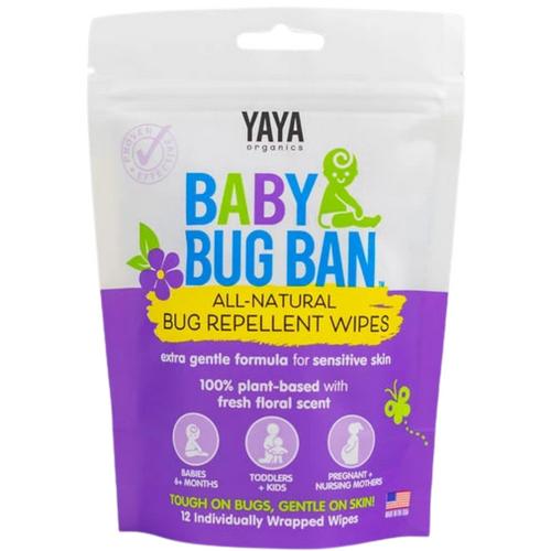 Yaya Baby Bug Ban - All Natural Bug Repellent Wipes