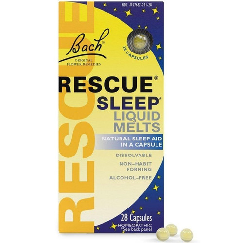 Bach Rescue Sleep Liquid Melts - 28 caps