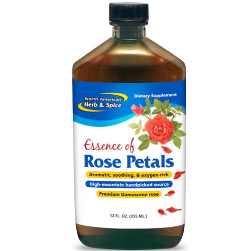 North American Herb & Spice Essence of Pure Rose Petals 12 fl oz