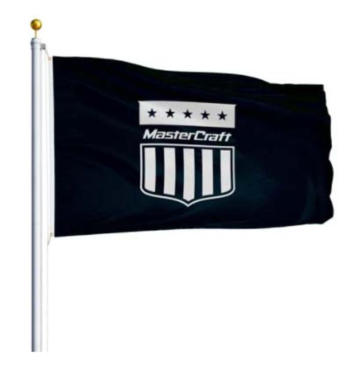 Mastercraft Shield Flag 3'x5' - Black