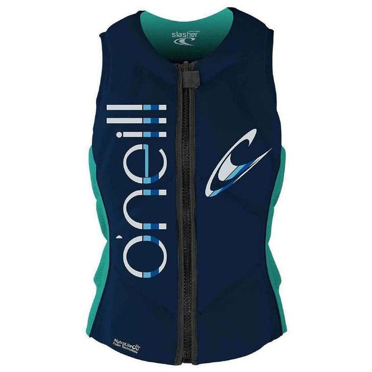 Oneill Womens Slasher Life Vest (Aqua)