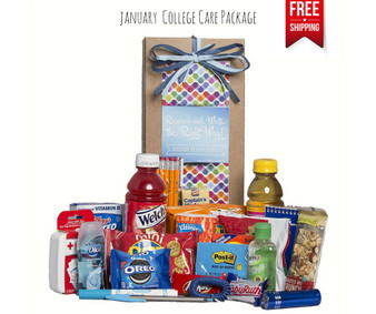 January Resolutions College Care Package Free Shipping!