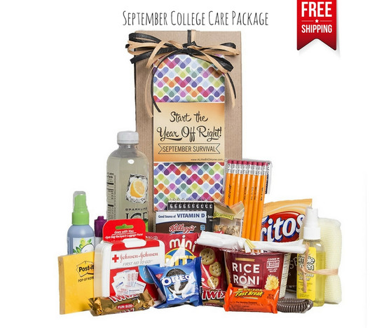 September Survival College Care Package Free Shipping!