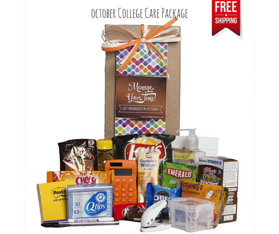 Get Organized in October College Care Package with Success Tips! FREE Shipping!