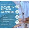 Magnetic Shirt-Button DIY Replacement Kit
