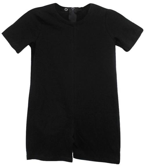 RESTOCKING SOON: Children's Back Zipper One-Piece BLACK Onesies Bodysuit