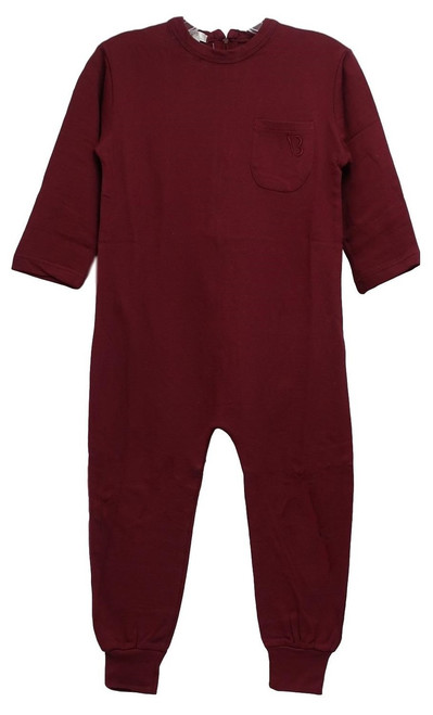 Kids Anti-Strip Jumpsuit, maroon