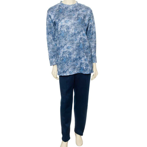 Benefit Wear r Womens Back Snap Printed Fleece Pant Set-Assorted Colors