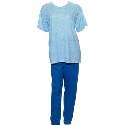 Benefit Wear r Back Snap Knit Printed Pant Set- Short Sleeve- Assorted Colors