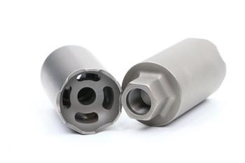 V Seven Helios Linear Compensator 1/2-28 Raw Titanium
