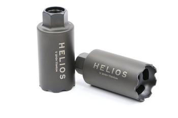 V Seven Helios Linear Compensator 5/8-24 Black DLC Titanium