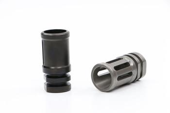 V Seven Ti A2 Style Compensator 5.56 - Raw Titanium