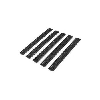 "BCM Gunfighter MCMR Rail Panel Kit 5.5"" 5 Pack - Black"