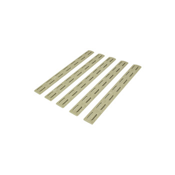 "BCM Gunfighter MCMR Rail Panel Kit 5.5"" 5 Pack - FDE"