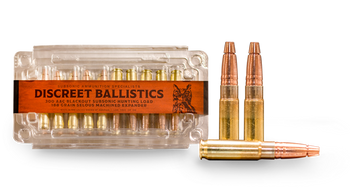 "Discreet Ballistics 300 AAC Blackout 188gr Subsonic Hunting Load 20rd 7-11"" Barrel 1/5 Twist"