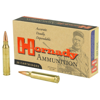 Hornady Rifle .223 Rem. 75 Grain BTHP Match 20 rounds