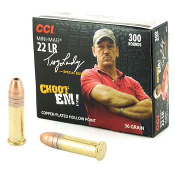 CCI Minimag, .22LR, Copper Plated HP, 36 Grain, 300 rounds