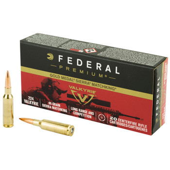 Federal Premium Gold Medal 90gr 224 Valkyrie 20rd