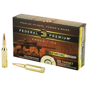 Federal 6.5 Creedmoor Gold Medal Berger 130gr Hybrid OTM